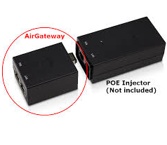 AireBeam Air Gateway connecting to Power Supply