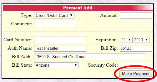 Payment Add