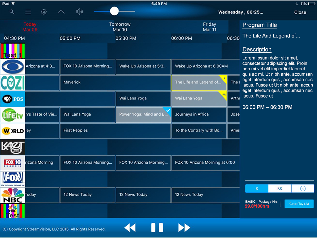 EPG and DVR Control