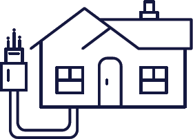 icon of a connected house