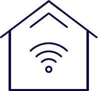 icon of wifi in a house